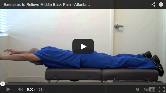 car accident doctor atlanta - mid back pain