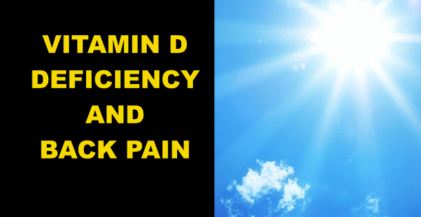 VITAMIN D AND BACK PAIN
